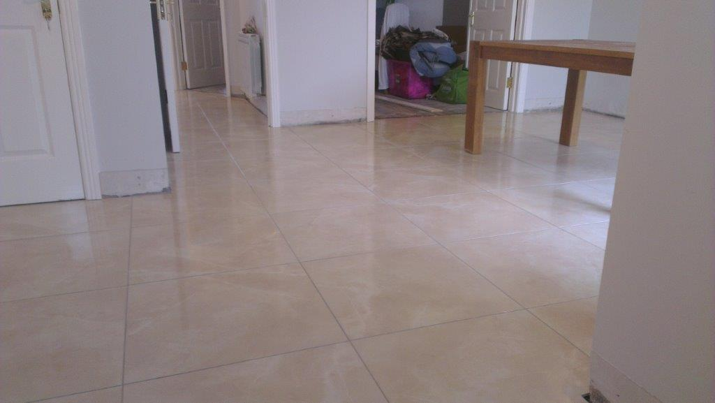 Kitchen & hall tiling in Nurney 4