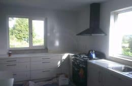 Kitchen before tiling in Wicklow