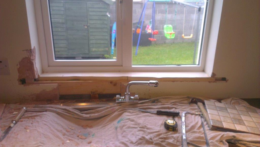 Just needs plasterboard to be ready for tiling