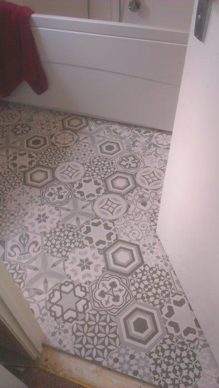 Pattern bathroom tiles in Dublin 3