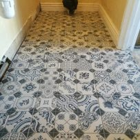 Pattern bathroom tiles in Clondalkin 1